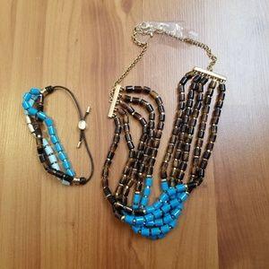 Fossil necklace and bracelet set NWOT